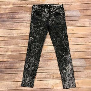 Rag & Bone Acid Washed Skinny Jeans Acid White